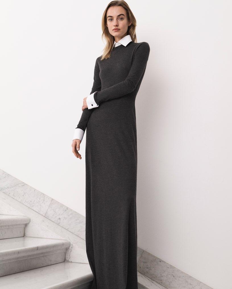 La robe en laine peignée