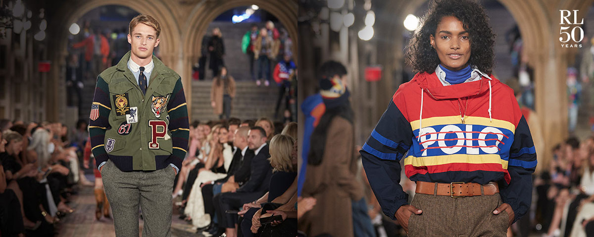 Models wear looks from the 50th Anniversary Show runway.