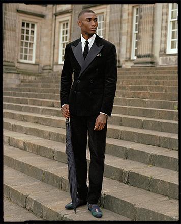 Man in faux-fur-trimmed parka