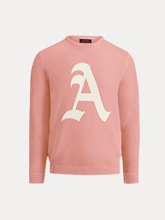 pink initial crewneck