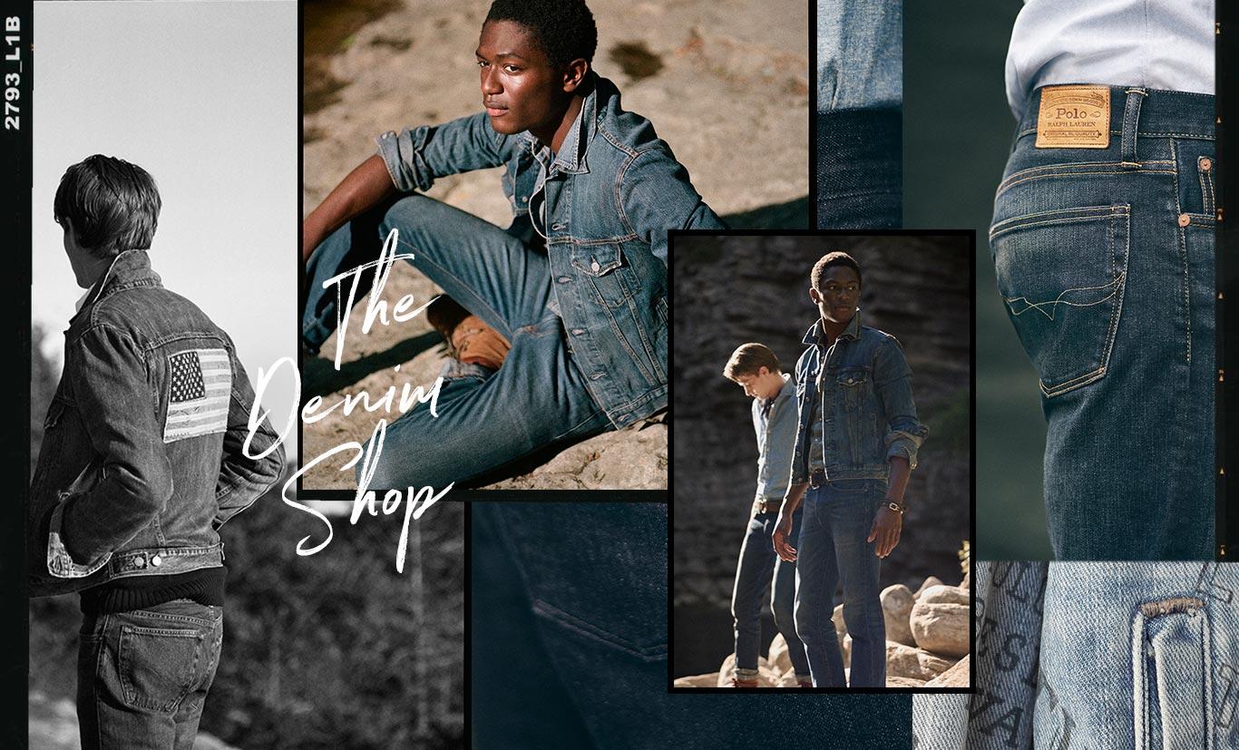ffc71598b3e Collage of men sporting various Polo denim looks. Copy  The Denim Shop