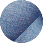 Swatch of light blue featherweight mesh fabric
